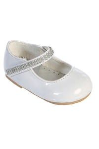 #S101 : Patten shoes w/ rhinestones on strap