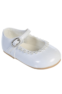 #S49 : Patten Rhinestone Shoes with Adjustable  Strap