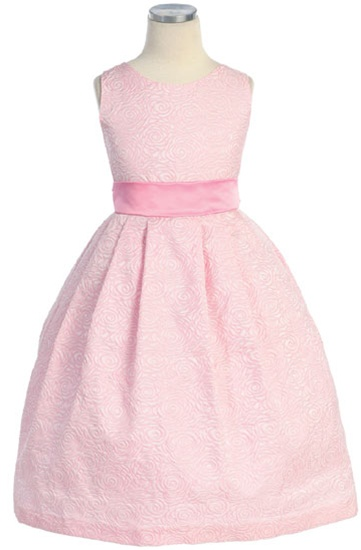 ffe1e0fcca0 Flower Girl Dresses SK228PK  Rose Jaccard Sleeveless Dress