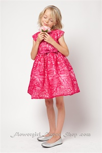 Flower Girl Dresses #SK450F : Sequin & Embroidered Organza Dress.