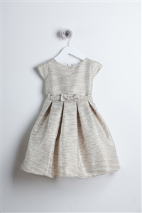 Flower Girl Dresses #SK542SC : Striped Metallic Thread Jacquard