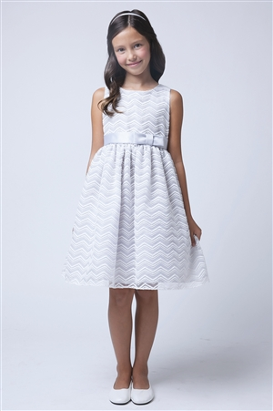 Beautiful Chevron Organza Dress (SK561)