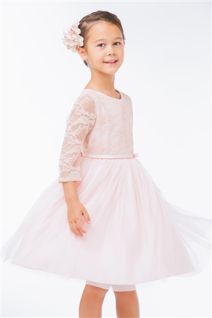 Flower Girl Dresses #SK599 : Lace Sleeve Ballerina