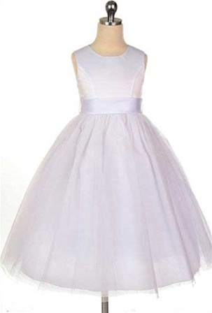 Classic satin bodice with tulle skirt and adjustable bow sash flower flower girl dresses sw2772w classic satin bodice with tulle skirt and adjustable bow sash mightylinksfo