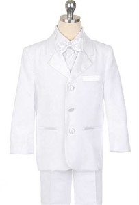 #SWM110AWH: Boys Dinner Jaket Tuxedo With Vest