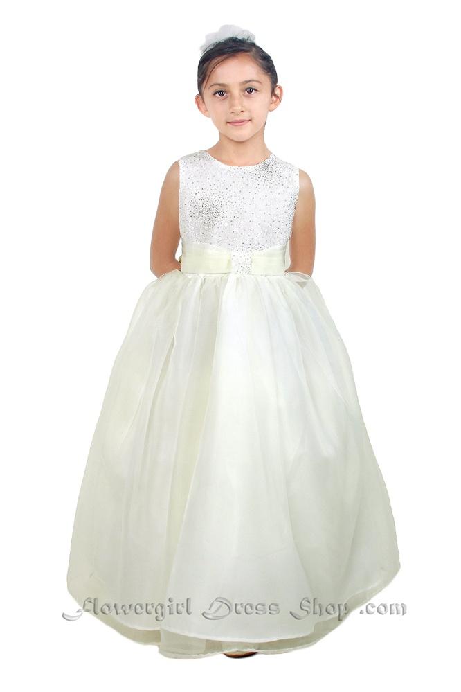 Flower girl dresses tt5542lv simple floor length dress with flower girl dresses tt5542lv simple floor length dress with glitter bodice and organza sash mightylinksfo