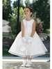 Flower Girl Dresses #TT6036 : Satin Bodice with Embroidery & Seed Pearl Sash Organza Skirt Flower Girl Dress