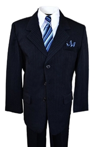 AA888NA: Dapper Boys Pinstripe Suit with Matching Tie