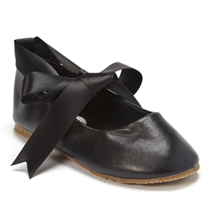#BS004 black : Ballerina Shoes / Ribbon Tie