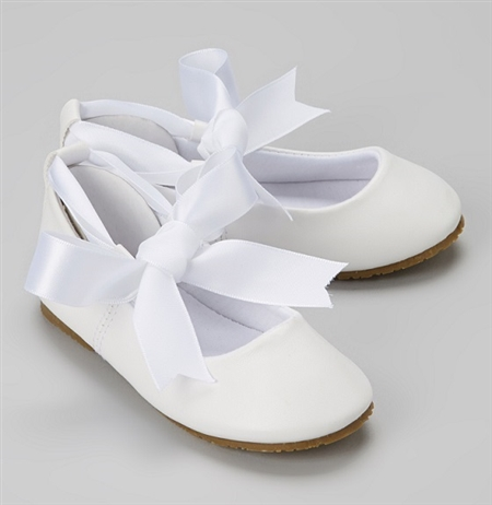 #BS004 white ivory : Ballerina Shoes / Ribbon Tie