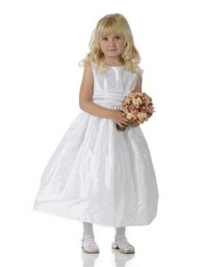 White flower girl dress 100 silk sleeveless dress with organza sash white flower girl dress mightylinksfo