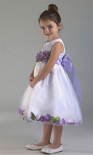 Satin bodice with petal flower girl dress flower girl dresses c596wh pk satin bodice petal flower girl dress with organza mightylinksfo