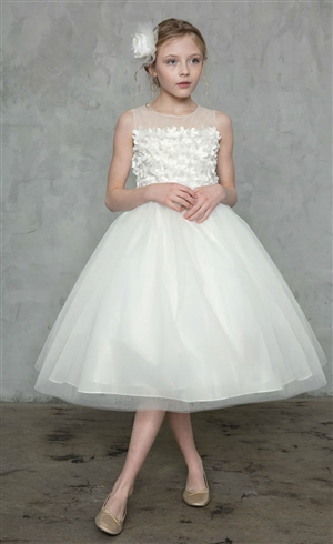 #CAD-771 : Embellished Illusion Bodice and Tulle Dress