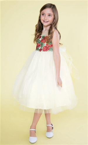 #CAD-780 : Floral Bodice and Tulle Dress