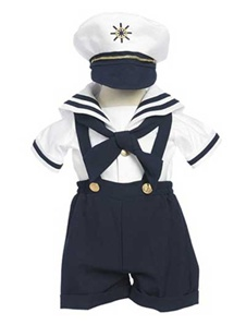Boy's Sailor Short Set