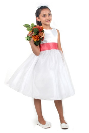 White flower girl dress flower girl dress easter dress girls flower girl dresses jk3211co classic satin bodice with organza skirt and removable bow sash mightylinksfo