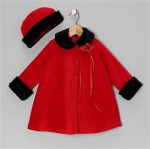 #KD166NR : Fleece Cape Baby Coat