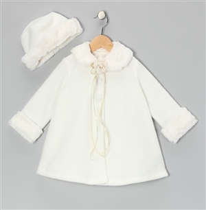 #KD166NW : Fleece Cape Baby Coat