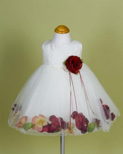 d7307377348 ... Elegant Dupioni Silk Petal Dress Larger Photo .