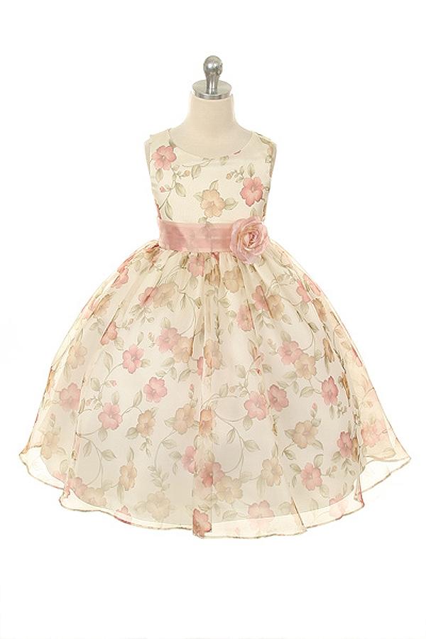 e09d0f59c697 Beautiful Organza Floral Printed Dress
