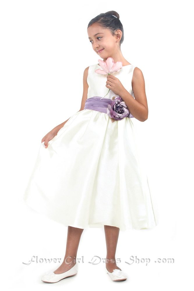 Poly silk sleeveless dress with different color removable sash flower girl dresses kd204lv poly silk sleeveless dress with different color removable sash mightylinksfo