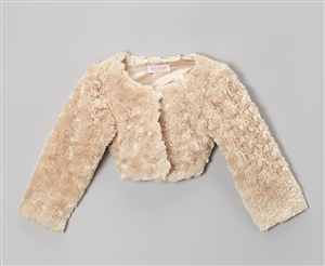#KD330T : Cuddle Fur Bolero Jacket