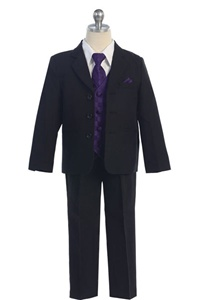 # KD5006PP : Boys Formal Suit with Vest and Tie
