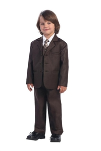 #LT3710BR : Boys Formal Suit with Vest and Tie