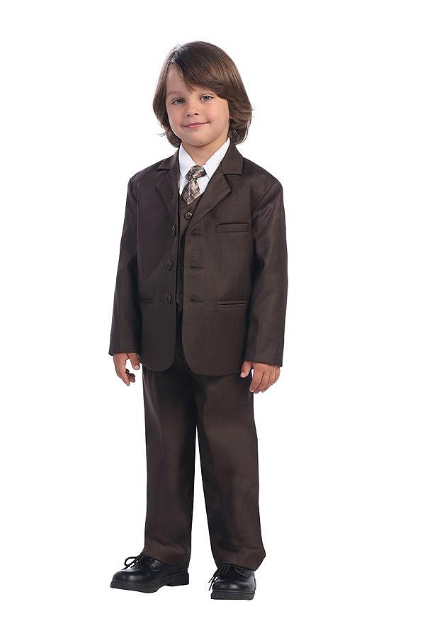 Boys Formal Suit With Gold Vest And Tie