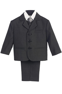 #LT3710CH : Boys Formal Suit with Vest and Tie