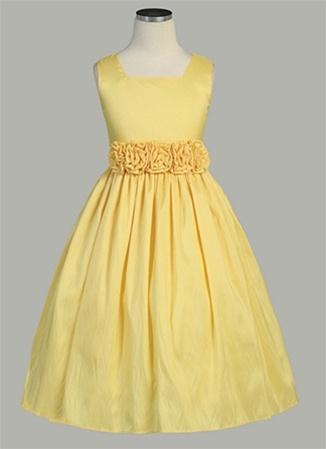 Sleeveless light weight taffeta dress eeveless light weight taffeta dress with hand rolled flower mightylinksfo