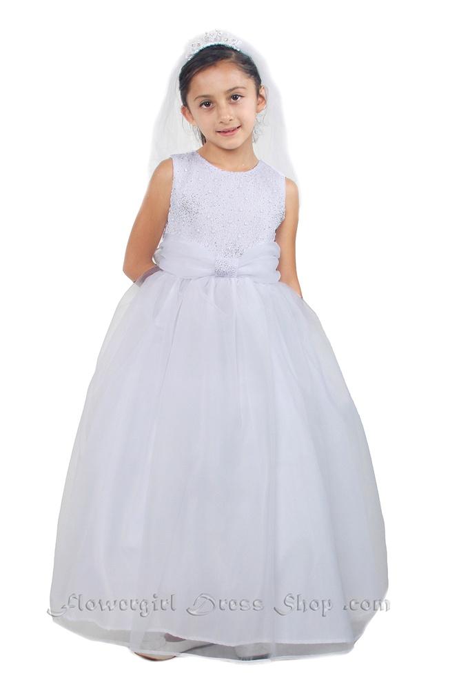 Flower girl dresses tt5542lw simple floor length dress with flower girl dresses tt5542lw simple floor length dress with glitter bodice and organza sash mightylinksfo