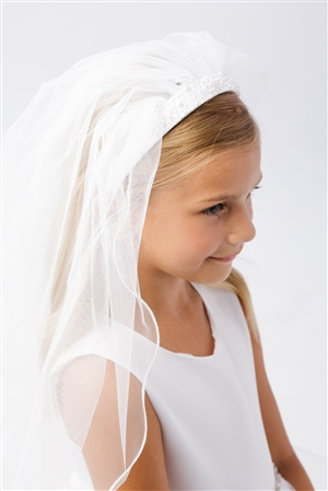 #TT713 : Communion Headband with Veil