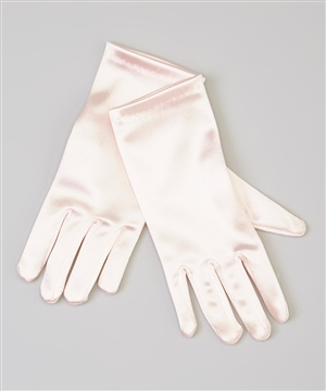 #TTSG pink : Short Satin Gloves